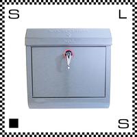 アートワークスタジオ メールボックス レバー開閉式 シルバー W385/D132/H400mm 壁付ポスト 鍵付き 郵便ポスト  TK-2076-SV