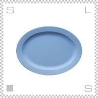 SAKUZAN サクザン SARA サラ オーバルプレート Lサイズ ライトブルー W290/D215/H20mm パステルカラー 日本製