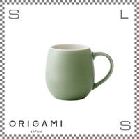 ORIGAMI オリガミ バレルアロマカップ マットグリーン Φ76/W105/H78mm 210cc コーヒーマグ マグカップ アロマが愉しめる 日本製