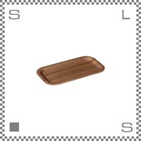KINTO キントー ノンスリップ レクタン トレイ スリム 2個セット 220×120mm チーク 長方形 ブラウンカラー