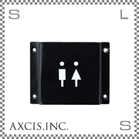 AXCIS アクシス アイアンサイン Toilet W103/D12/H80mm トイレ スチール製 スチールプレート hs2586