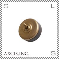 AXCIS アクシス ブラススイッチ ブラウン Φ55/H45mm トグルスイッチ レトロスイッチ アンティーク hs2358