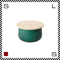 山中漆器 木の小物入れ TRICO トリコ Sサイズ グリーン Φ100/H63mm 小物入れ ハンドメイド 日本製