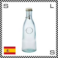 リサイクルガラス ボテラ オーセンティックボトル キャップ付き 950cc Φ95/H280mm カラフェ ウォーターボトル カフェ スペイン製 g490054