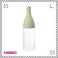 HARIO ハリオ フィルターインボトル エーヌ 800ml スモーキーグリーン W90/D90/H320mm フィルター付き カラフェ ウォーターボトル ワインボトル型 日本製 fie-80-sg