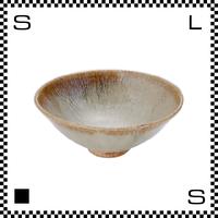 笠間焼 鈴木まるみ ライスボウル Mサイズ 黒糠 Φ14.2/H5.9cm(高台径:4.5cm) ハンドメイド 飯碗 茶碗 茶わん 日本製