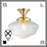 アートワークスタジオ East College イーストカレッジシーリングランプ Lサイズ ライトゴールド/クリア 電球なし Φ330/H335mm ガラスシェード AW-0453Z-LGCL