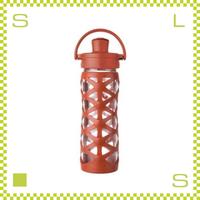 LIFEFACTORY ライフファクトリー グラスボトル アクティブキャップ 475 ゴールデンオレンジ 475ml 携帯ボトル ガラスボトル