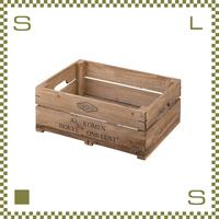 ウッドボックス ハーフ W50/D37/H18cm 持ち手付き ベジタブルボックス風 底:金網 植木鉢利用可 azu-lfs475
