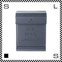 アートワークスタジオ U.Sメールボックス ダイヤル式 ダークグレー W283/D190/H380mm 壁付ポスト 鍵付き 郵便ポスト  TK-2078-DGY