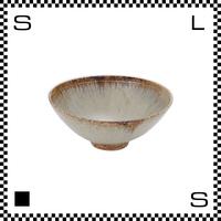 笠間焼 鈴木まるみ ライスボウル Sサイズ 黒糠 Φ12.5/H4.8cm(高台径:3.5cm) ハンドメイド 飯碗 茶碗 茶わん 日本製
