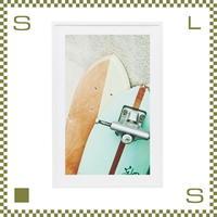 アートパネル スケートボード カラー W60/D5/H90cm インテリアアート ポスター フレーム付き azu-art111l