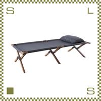 フォールディングベッド W196/D75/H42cm 枕付き 折り畳み デイベッド アウトドアベッド azu-nx935