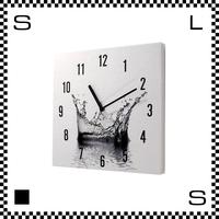WATER CROWN ウォータークラウン W30/D2/H30cm 水の王冠 ウォールクロック 壁掛け時計 スイープクオーツ使用 日本製