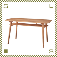 ダイニングテーブル 北欧デザイン W135/D80/H72cm 棚あり 天然オーク材使用 シンプルデザイン azu-nyt621
