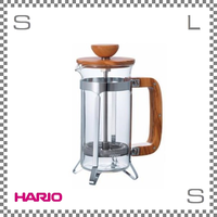 HARIO ハリオ カフェプレス ウッド 2杯用 W114/D80/H170mm コーヒープレス フレンチプレス cpsw-2-ov