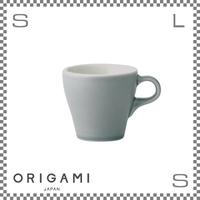 ORIGAMI オリガミ カプチーノカップ マットグレー 6oz Φ81/W103/H75mm 180cc コーヒーカップ バリスタが設計 日本製
