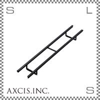 AXCIS アクシス アイアンネームプレートホルダー Lサイズ W380/D28/H65mm アルファベットプレート9枚収納可 スチール製 hs2557