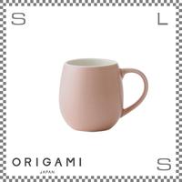 ORIGAMI オリガミ バレルアロマカップ マットピンク Φ76/W105/H78mm 210cc コーヒーマグ マグカップ アロマが愉しめる 日本製