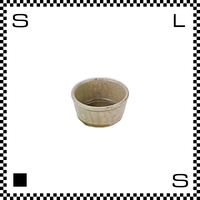 笠間焼 鈴木まるみ アイスクリームカップ 緑灰/半 Φ7.8/H4.5cm(高台径:5.7cm) ハンドメイド 小鉢 ミニボウル 日本製