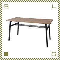 ダイニングテーブル ブルックリンスタイル W145/D70/H72cm 棚あり アイアン使用 azu-nw891t