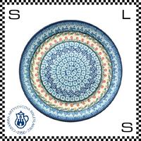 Ceramika Artystyczna ツェラミカ アルティスティチナ No.U3-555 プレート 24cm Φ24/H3cm ストーンウェア オーブン可 ハンドメイド ポーランド製