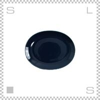 Common コモン オーバルプレート 190mm ネイビー W190/D150/H24mm 波佐見焼 日本製