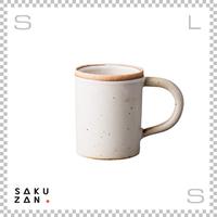 SAKUZAN サクザン ストレートマグ ホワイト 200cc Φ78/W126/H95mm コーヒーカップ 日本製