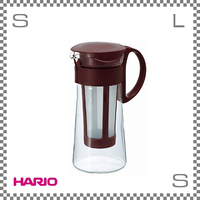 HARIO ハリオ 水出し珈琲ポット ショコラブラウン 5杯用 W138/D94/H208mm コールドブリューコーヒー 水出しコーヒー mcpn-7cbr