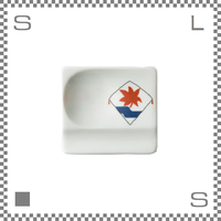aiyu アイユー 重宝皿 長崎凧 水に紅葉 W8/D7.2/H1.3cm スクエアプレート 万能皿 箸置きスペースあり 波佐見焼 日本製