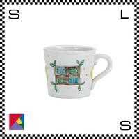 九谷焼 道場八重 マグカップ 窓と月文様 Φ9.5(下径:8.5cm)/H8cm ハンドメイド 日本製