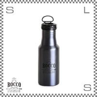 ROCCO ロッコ ワンタッチボトル 500ml メタルネイビー Φ73/H213mm ステンレスボトル 魔法瓶 水筒