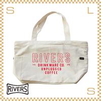 RIVERS リバーズ ジッパートップトートバッグ ノウエレマン ナチュラル W550/D150/H310mm ビッグサイズ ロゴ入り