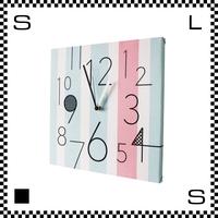 SKY GREEN LINES W30/D2/H30cm ストライプ ウォールクロック 壁掛け時計 スイープクオーツ使用 日本製