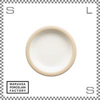 丸朝製陶所 %PORCELAINS ポーセリンズ プレート Sサイズ マットホワイト Φ171/H25mm 日本製