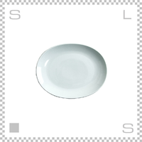 Common コモン オーバルプレート 190mm ホワイト W190/D150/H24mm 波佐見焼 日本製