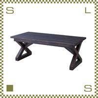 コーヒーテーブル バリ風 W110/D50/H40cm 天然マホガニー材使用 ローテーブル リゾート風 azu-nw884