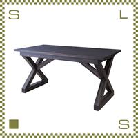 ダイニングテーブル バリ風 W150/D80/H72cm 天然マホガニー材使用 リビングテーブル リゾート風 azu-nw882t