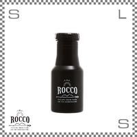ROCCO ロッコ ワンタッチボトル 350ml ブラック Φ73/H178mm ステンレスボトル 魔法瓶 水筒
