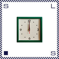 HERMOSA ハモサ スクエアスチールクロック グリーン ウォールクロック 掛け時計