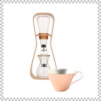 SNOWTOP COFFEE series スノウトップ ウォータドリップコーヒーサーバー & R&W 銅製アイスコーヒーカップ(マット/槌目)