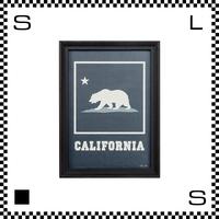 アートワークスタジオ アートフレーム A4サイズ カリフォルニア ブラックフレーム W255/D20/H340mm ポスター付フレーム アートポスター TR-4196-CA