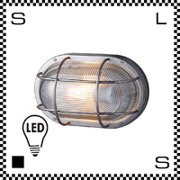 アートワークスタジオ Navy ネイビーベース オーバルウォールランプ シルバー LEDモデル W285/H180mm 屋内・屋外兼用 コードなし マリン風 フィッシャーマン  BR-5044e-sv