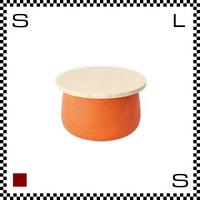 山中漆器 木の小物入れ TRICO トリコ Sサイズ オレンジ Φ100/H63mm 小物入れ ハンドメイド 日本製