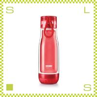 ZOKU ゾク コアボトル 475ml レッド ダブルウォール ストラップ付 内側:耐熱ガラス 水筒 携帯ボトル