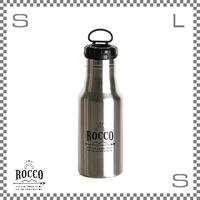 ROCCO ロッコ ワンタッチボトル 500ml シルバー Φ73/H213mm ステンレスボトル 魔法瓶 水筒