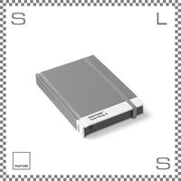 PANTONE パントン ノートブック Sサイズ グレー W170/D120/H22mm ストッパーゴム付き ダイアリー 日記帳 デンマーク