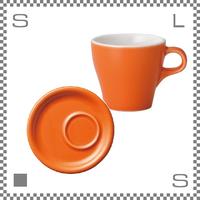 ORIGAMI オリガミ カプチーノカップ&トレーソーサー オレンジ 6oz 180cc コーヒーカップ&トレーソーサー バリスタが設計 日本製
