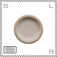 丸朝製陶所 %PORCELAINS ポーセリンズ プレート Sサイズ グロスホワイト Φ171/H25mm 日本製