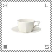 キントー OCT オクト カップ&ソーサー 300ml ホワイト コーヒーカップ&ソーサー